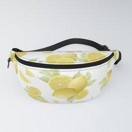 Summer Lemon Twist #1 #tropical #fruit #decor #art #society6 Fanny Pack