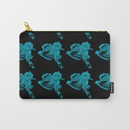 Gotcha - Teal on Black Carry-All Pouch