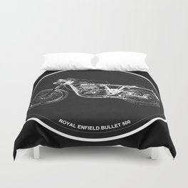 Royal Enfield Bullet 500 - For Some There's Therapy, For The Rest Of Us There's Motorcycles Duvet Cover