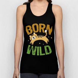 Born Wild Animals Lover Unisex Tank Top