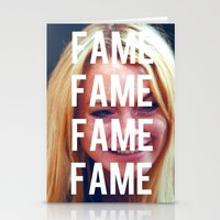 lindsay lohan Stationery Cards featuring FAME - LINDSAY LOHAN by Beauty Killer Art