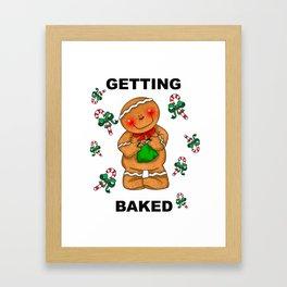 Getting Baked Framed Art Print