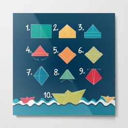 Paper boat - How to Metal Print