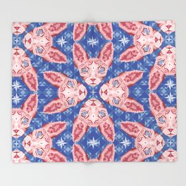 Sphynx Cat - Rose Quartz and Serenity version Throw Blanket
