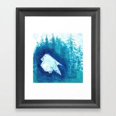 Origami Bird 1 Framed Art Print