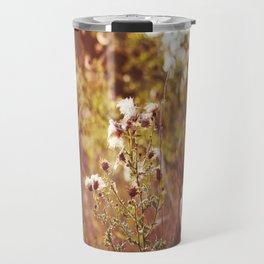 golden dandelions. Travel Mug