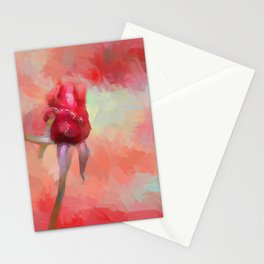 Red Rose In Spring Stationery Cards