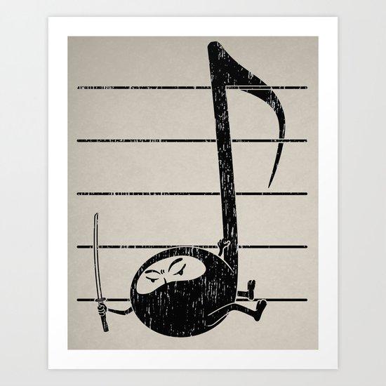 Ninjaaaah! Art Print