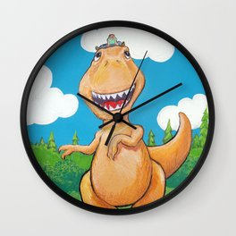 Dino Tyrano Ride Wall Clock