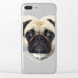 Pug Love Clear iPhone Case