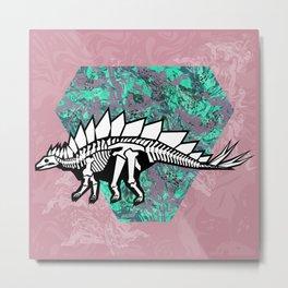 Stegosaur Fossil Metal Print