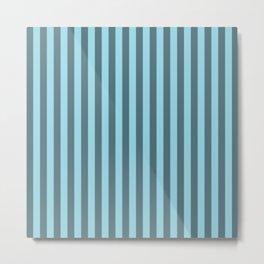 Electric Blue Stripes Pattern Metal Print