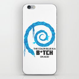 The Color Blue Is... iPhone Skin