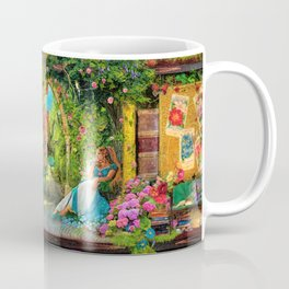 The Secret Garden Book Shelf Coffee Mug