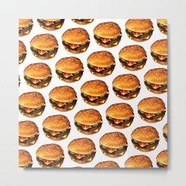 Cheeseburger Pattern 2 Metal Print