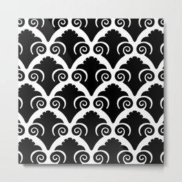 Scallop Pattern Black Metal Print