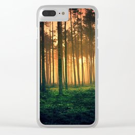 Dark forest 01 Clear iPhone Case