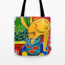 Henri Matisse - Cat With Red Fish still life painting Tote Bag