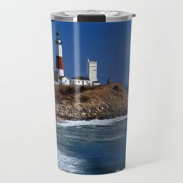 Crispy Morning at Montauk Point Lighthouse Long Island New York Travel Mug