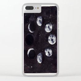 Lunar Cycle Clear iPhone Case