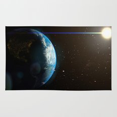 Earth from space  Rug