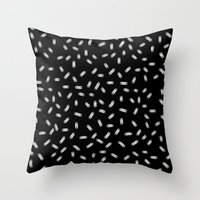sprinkles Throw Pillows featuring Sprinkles by lazybones