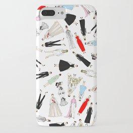 Audrey Hepburn Fashion (Scattered) iPhone Case
