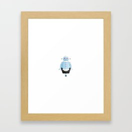 Rosie The Robotic Maid Minimal Sticker Framed Art Print