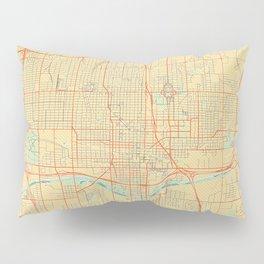 Oklahoma City Map Retro Pillow Sham