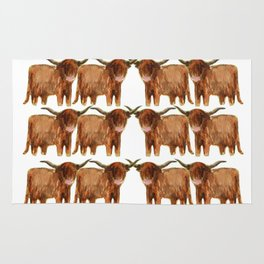 Gathering: Highland Cows Rug
