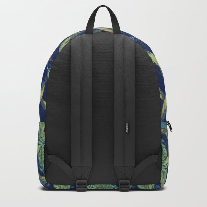 Tropical banana leaves III Backpack