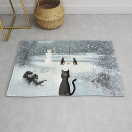 Cat on tour Rug