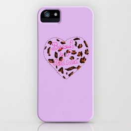 BeautyIsAReligion `Leopard Heart` iPhone Case
