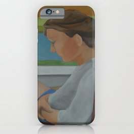 Woman in Chair iPhone Case
