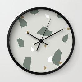 Shape and Color Study: Terrazzo + Stone Wall Clock