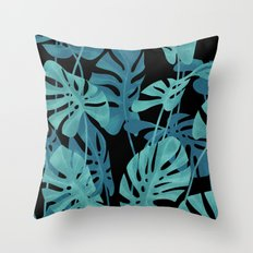 Graphic Monstera leaves. Throw Pillow