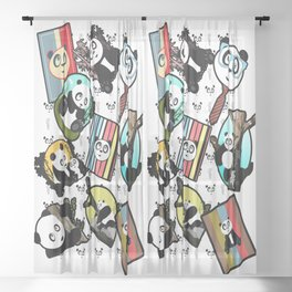 Panda Mix Sheer Curtain
