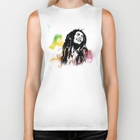 marley Biker Tanks featuring Marley Stencil Work by L & T Designs