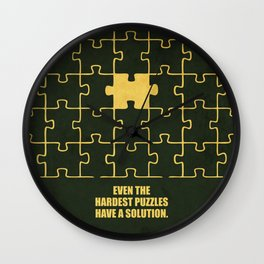 Lab No. 4 -Even The Hardest Puzzles Have A Solution Corporate Start-Up Quotes Wall Clock