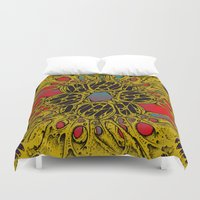 lovecraft Duvet Covers featuring Lovecraft Warp by Craig Earp