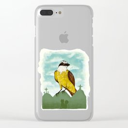 Bichofue cali // great kiskadee colombia Clear iPhone Case