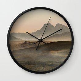 Sunny morning on Skye Island Wall Clock