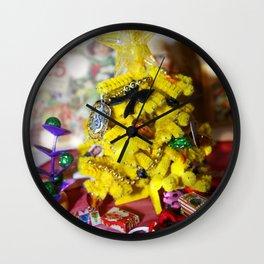 Happy Hufflepuff Christmas Wall Clock