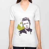 james franco V-neck T-shirts featuring James by Sofialmazan
