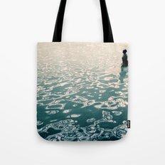 Lady in swimming pool Tote Bag