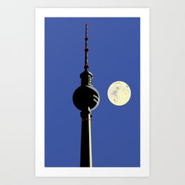 Berlin Moon Art Print
