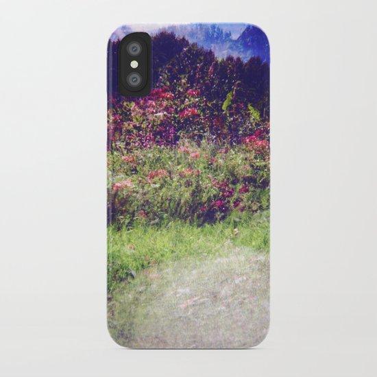 Flowers Plastic Camera Double Exposure iPhone Case