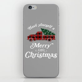 Have yourself a Merry little Christmas Vintage Truck iPhone Skin
