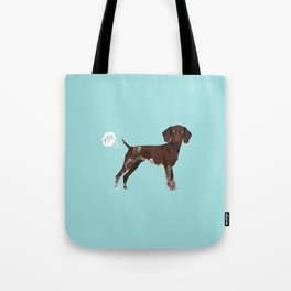 german shorthair pointer funny farting dog breed gifts Tote Bag