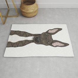 Cute brindle and white Greyhound Rug